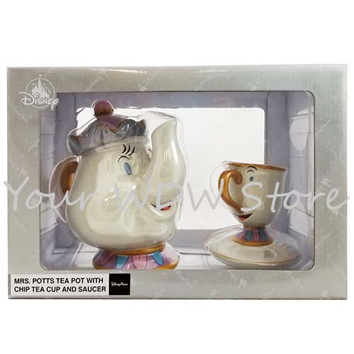 Disney Tea Set Beauty And The Beast Mrs Potts And Chip