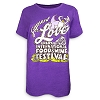 Disney Ladies Shirt - 2017 Epcot Food and Wine Festival Figment Purple
