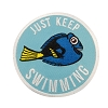 Disney Iron On Patch by Loungefly - Finding Dory - Just Keep Swimming