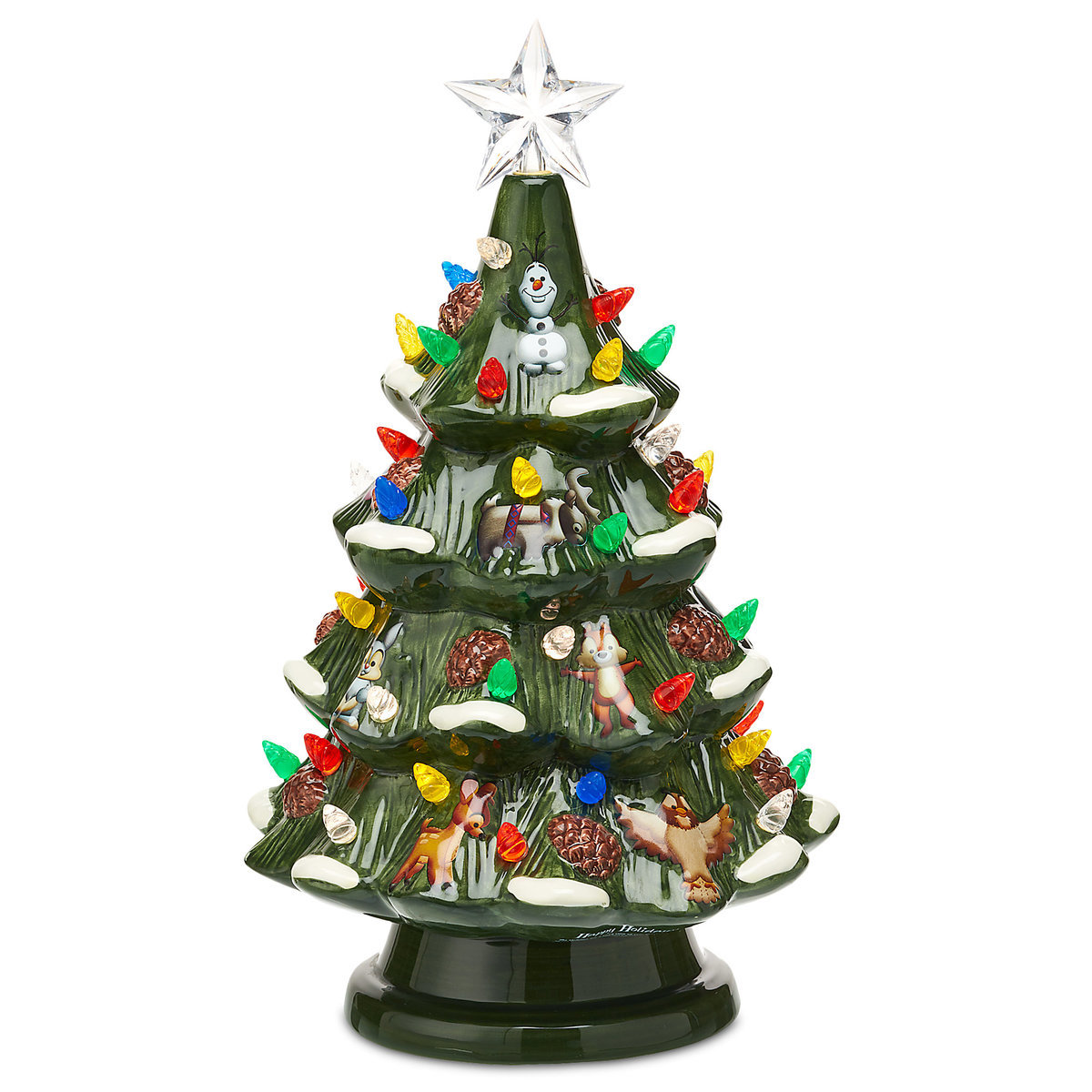 disney light up christmas tree mickey and woodland friends ceramic - Disney Christmas Tree