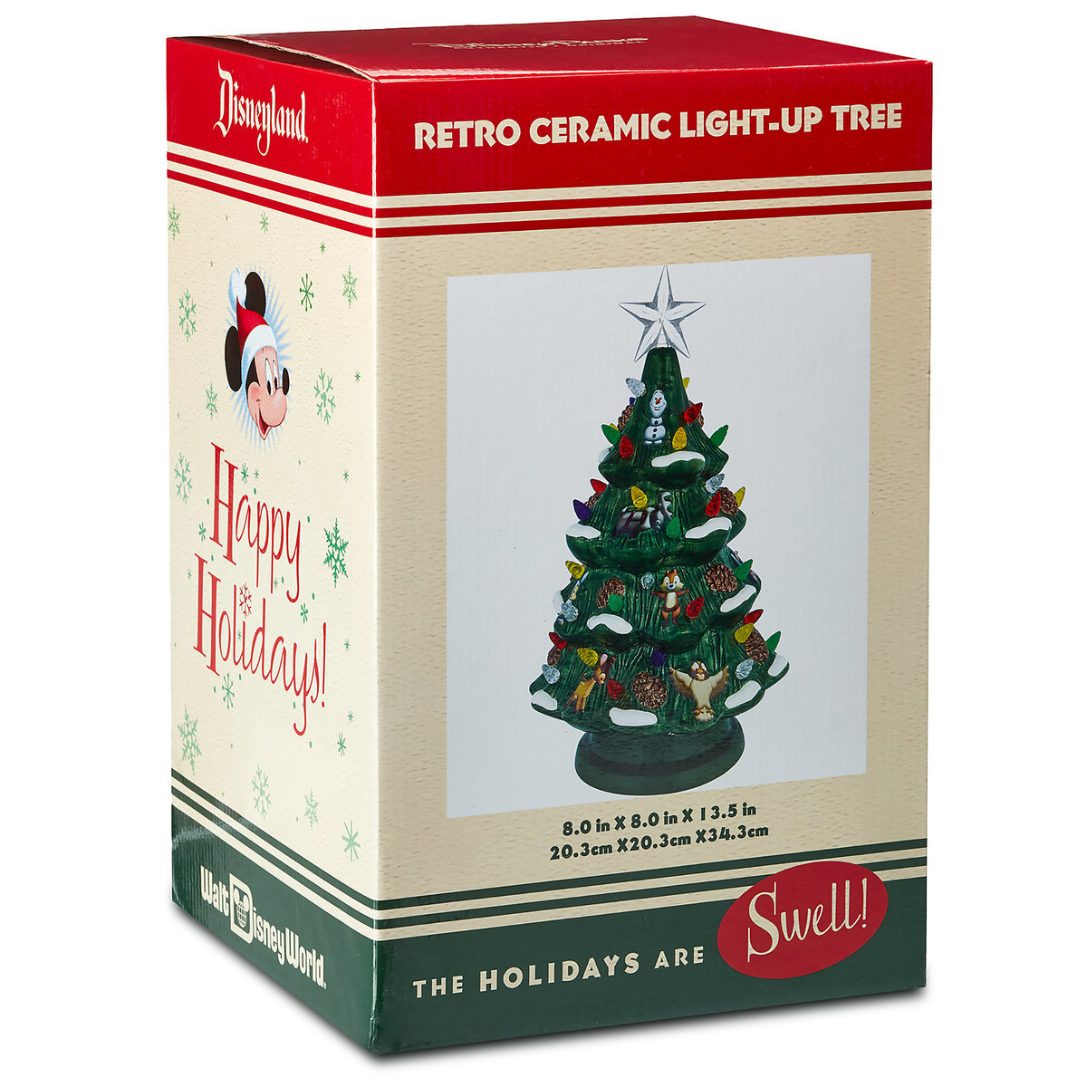 Ceramic Christmas Tree With Lights.Disney Light Up Christmas Tree Mickey And Woodland Friends Ceramic