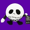 Disney Dog Toy - Chew Squeaker - Jack Skellington Ball Plushy