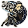 Disney Star Wars Pin - The Last Jedi - Rey and Luke Skywalker