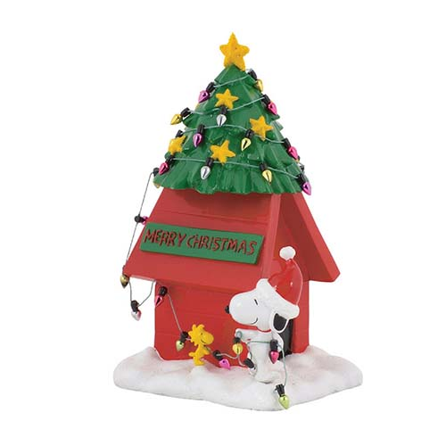 peanuts village snoopy and woodstock christmas dog house - Snoopy House Christmas