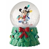 Disney Snow Globe - Minnie With Christmas Lights