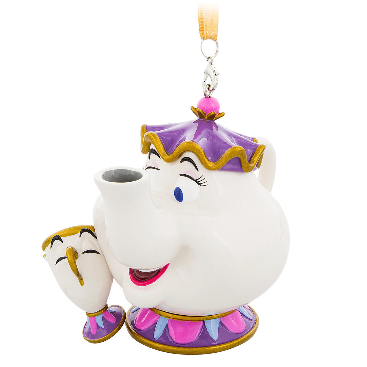 Disney Figural Ornament Beauty And The Beast Mrs Potts Chip