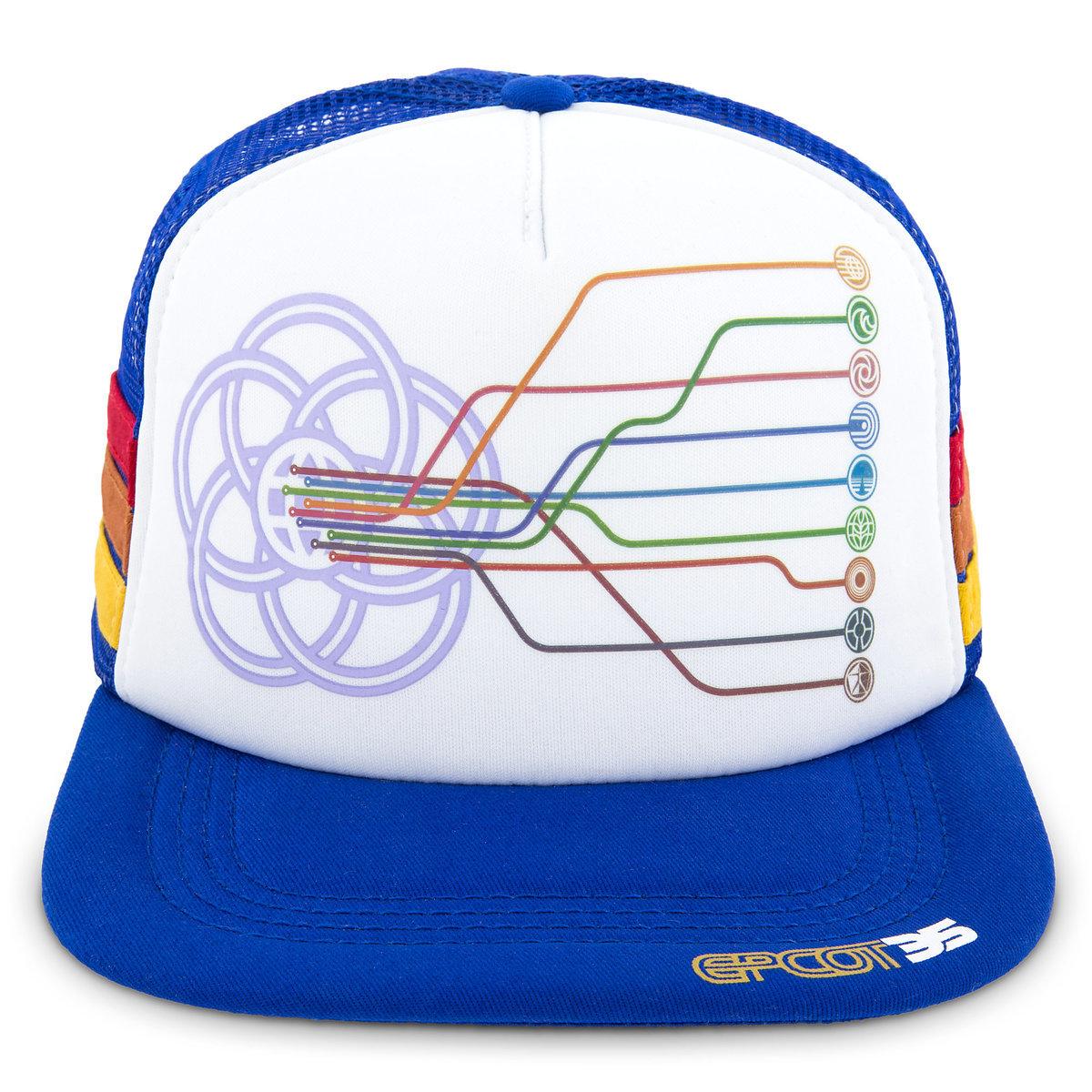 Disney Baseball Cap - Epcot 35th Anniversary - Pavilion Icons ffd92935fc6a