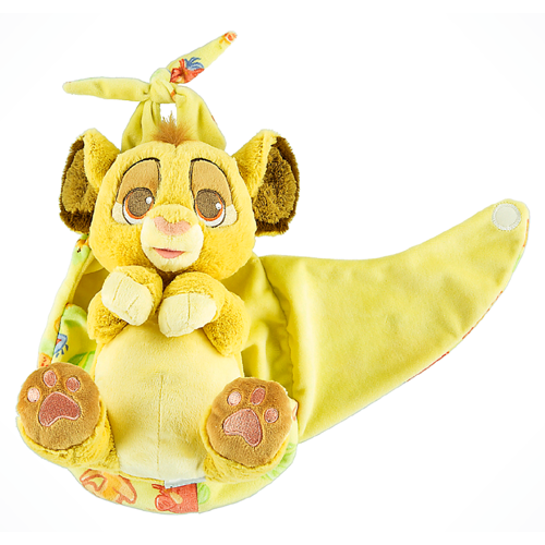 Disney Plush Baby Simba In A Blanket Pouch