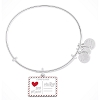 Disney Alex & Ani Bracelet - Mickey & Minnie Love Letter - Silver
