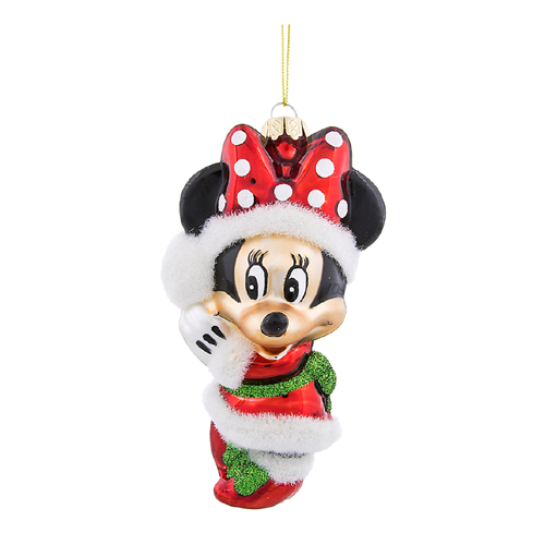 disney blown glass christmas ornament minnie mouse