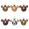 Disney Ornament Set - Mickey Icons - Wild Animal Prints