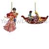 Disney Jim Shore Ornament Set - Ariel and Eric, Rapunzel and Flynn