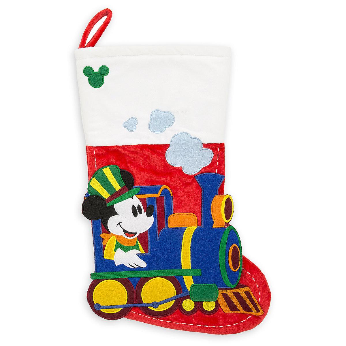 disney christmas stocking walt disney world railroad mickey mouse - Mickey Mouse Christmas Stocking