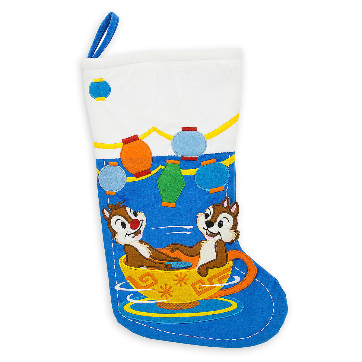 Disney Christmas Stocking - Mad Tea Party - Chip and Dale