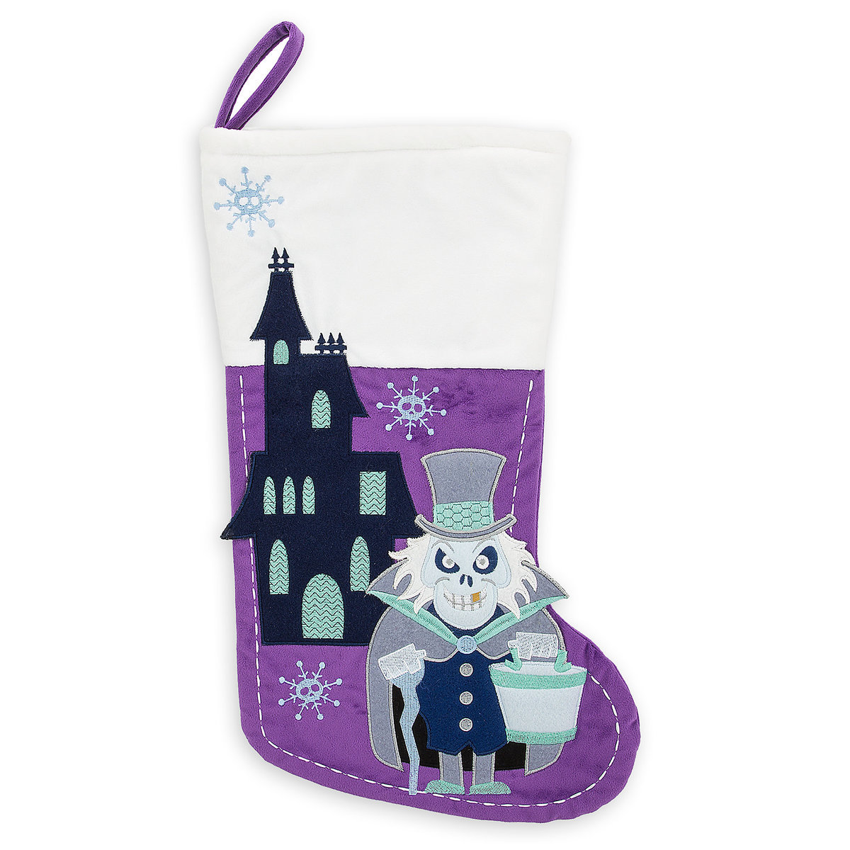 disney christmas stocking haunted mansion hatbox ghost