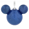 Disney Mickey Ears Ornament - Blue Glitter