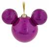 Disney Mickey Ears Ornament - Magenta Glitter