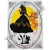 Disney Silhouette Print - Walt Disney World - Princess Belle