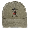 Disney Baseball Cap Hat - Vintage Mickey Mouse - Tan