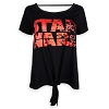 Disney Women's Shirt - Star Wars The Last Jedi Logo Tie-Front