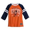 Disney Boys Shirt - Mickey Mouse - Orange and Blue Raglan