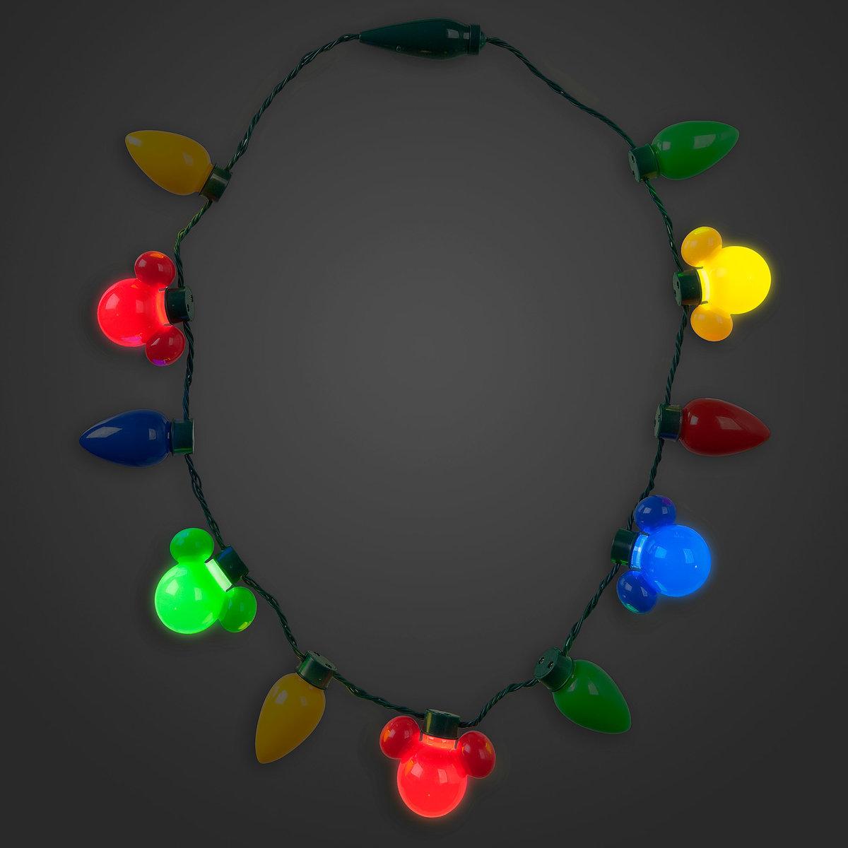 Disney Light Up Necklace Happy Holidays Christmas Lights