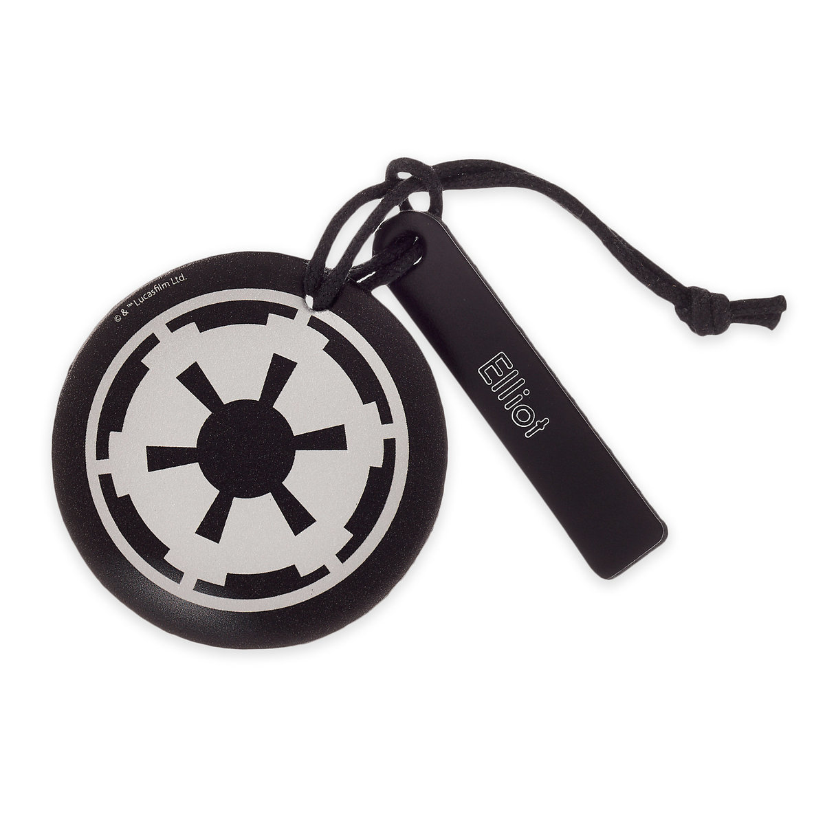 Disney Personalizable Leather Bag Tag - Star Wars Imperial Symbol