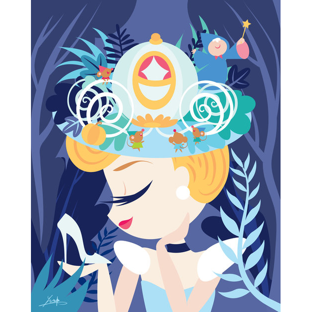 Disney Deluxe Print - My Pretty Pretty Hat - Cinderella by Fenway Fan