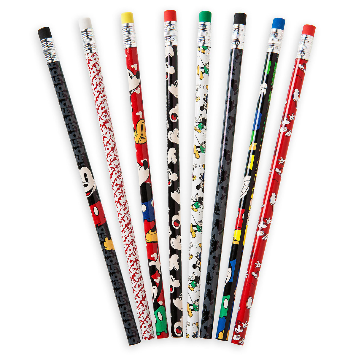 Disney Pencil Set - 8 Pack of Pencils - Timeless Mickey Mouse