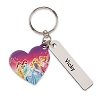 Disney Personalizable Leather Keychain - Disney Princess - Heart