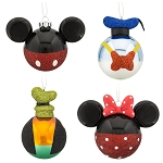Disney Christmas Ornament Set of 4 - Best of Mickey Mouse and Pals