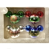 Disney Christmas Ornament Set of 4 - Mickey Mouse Ears Icons - GBRS