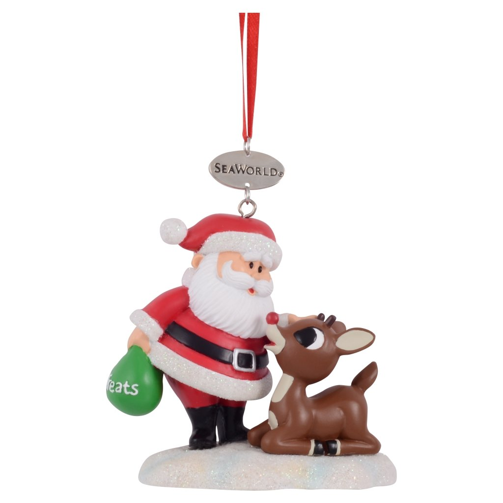 seaworld christmas ornament rudolph and santa - Rudolph Christmas Decorations