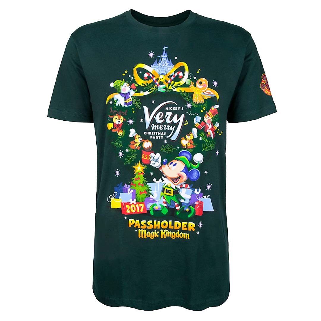 108e44b4 Add to My Lists. Disney Adult Tee - Mickey's Very Merry Christmas Party  Passholder 2017