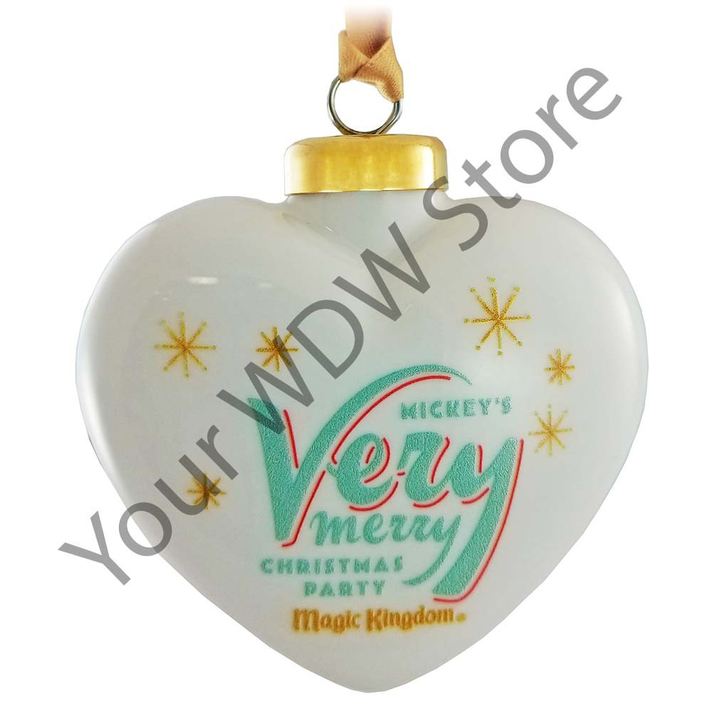 disney ornament mickeys very merry christmas party 2017 heart