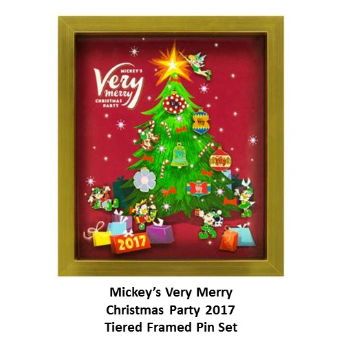 disney very merry christmas party pin set 2017 framed pin set