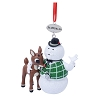 SeaWorld Christmas Ornament - Rudolph with Sam the Snowman