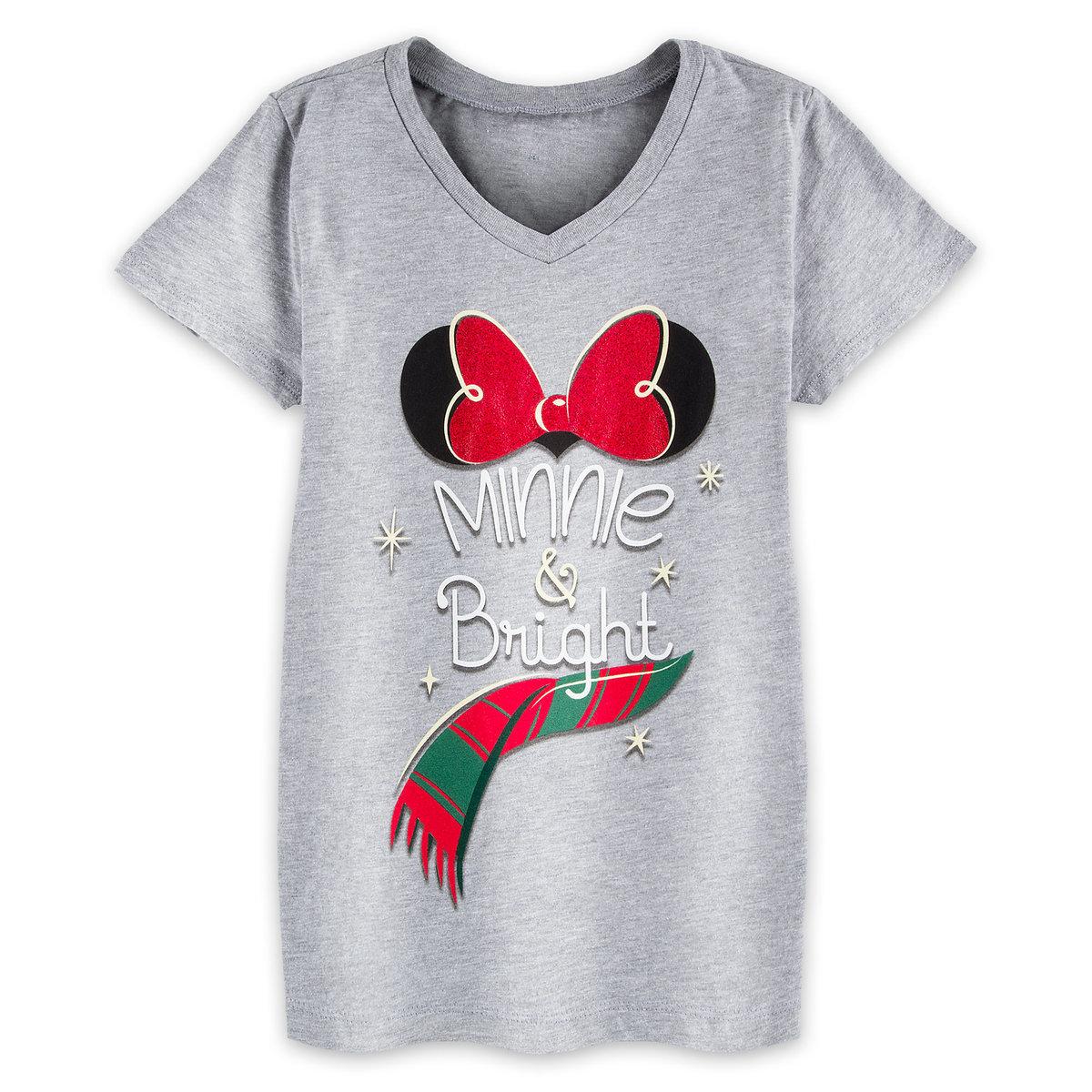 Disney Child Shirt - Minnie and Bright Holiday Tee