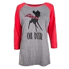 Disney Ladies Shirt - Bambi ''Oh Deer'' Holiday Raglan Tee