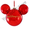 Disney Christmas Holiday Ornament - Metallic Red Walt Disney World Logo