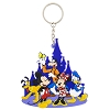 Disney Keychain Keyring - Mickey and Friends at Castle PVC