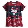 Disney Women's Shirt - Mickey Minnie Mouse Ugly Holiday T-Shirt