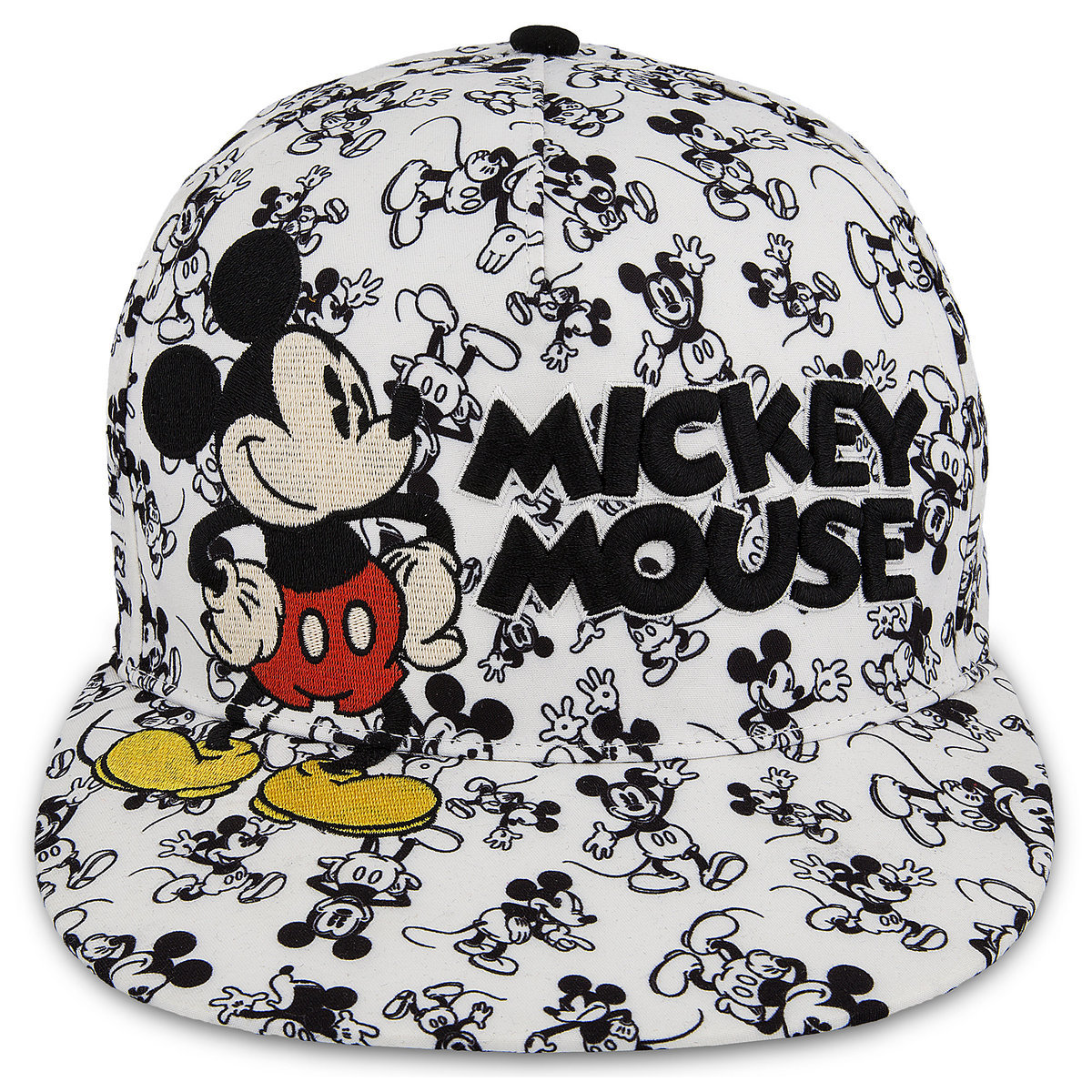Disney Baseball Cap - Mickey Mouse Allover - White and Black 39ef41d5199