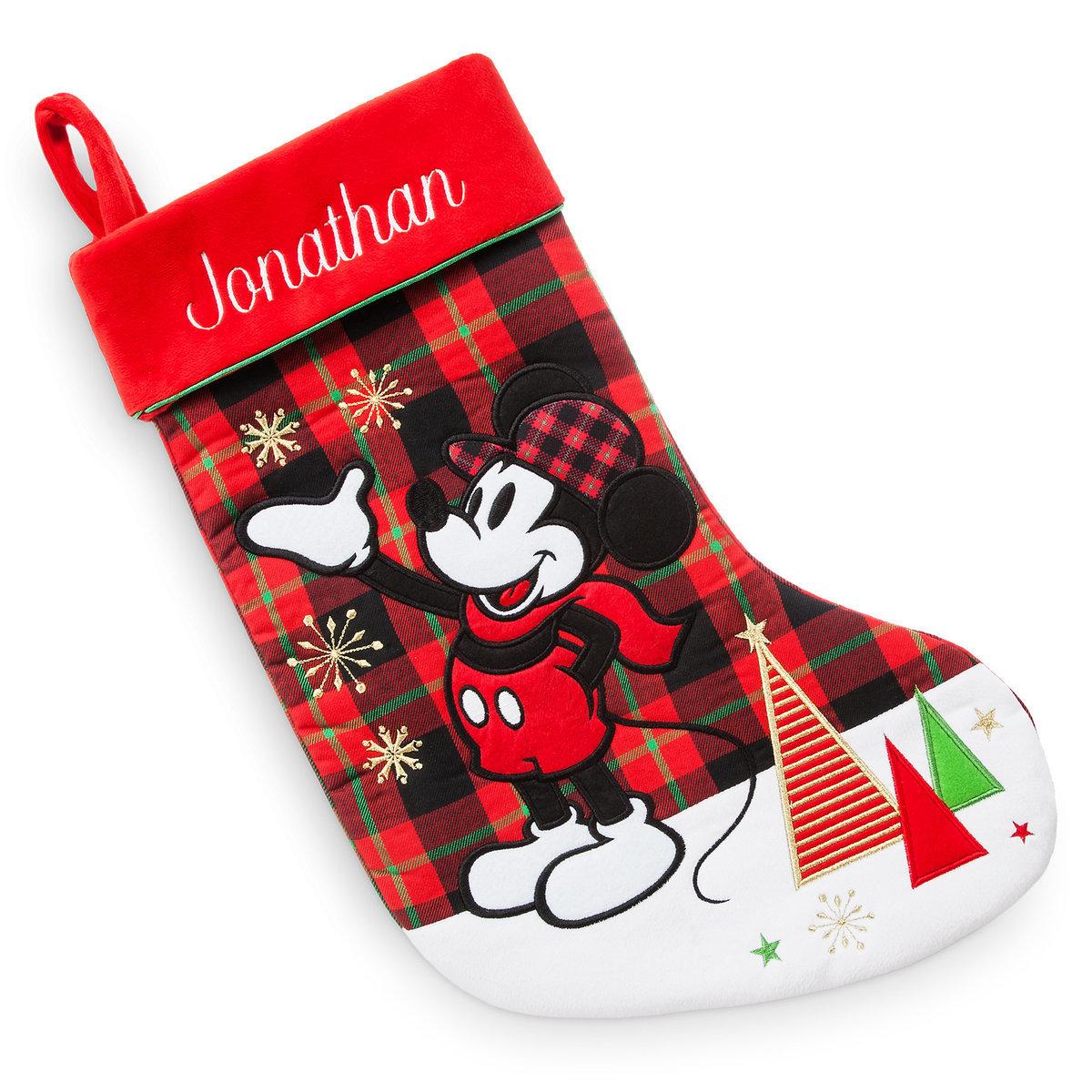 disney christmas holiday stocking mickey mouse holiday - Mickey Mouse Christmas Stocking