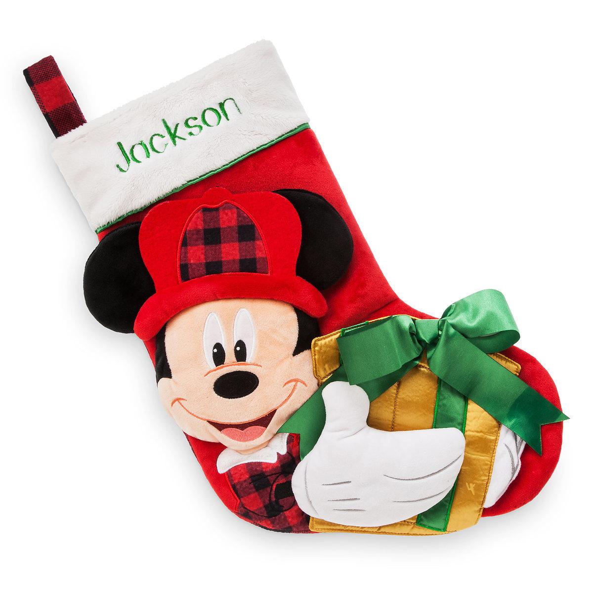 disney christmas holiday stocking mickey mouse plush holiday 2017 - Mickey Mouse Christmas Stocking