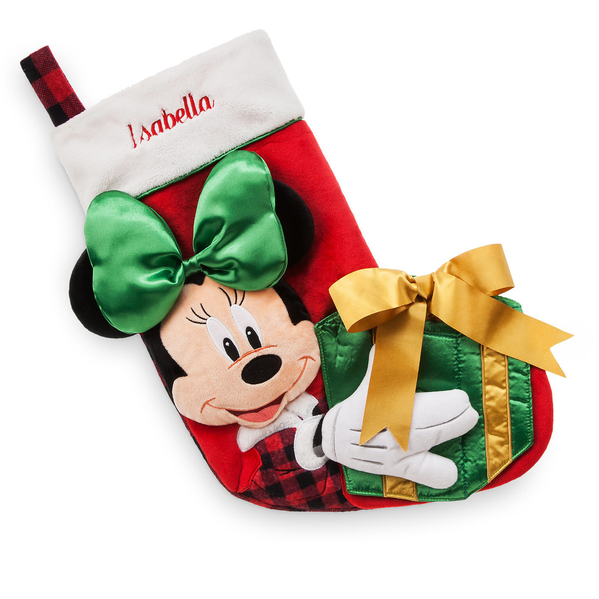 Christmas Minnie Mouse Plush.Disney Christmas Holiday Stocking Minnie Mouse Plush Holiday 2017