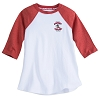 Disney Girls Shirt - Mickey Mouse Raglan T-Shirt - Red