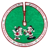 Disney Christmas Tree Skirt - Santa Mickey and Minnie Mouse Happy Holidays Tree Skirt