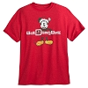 Disney ADULT Shirt - Santa Mickey Mouse - Red