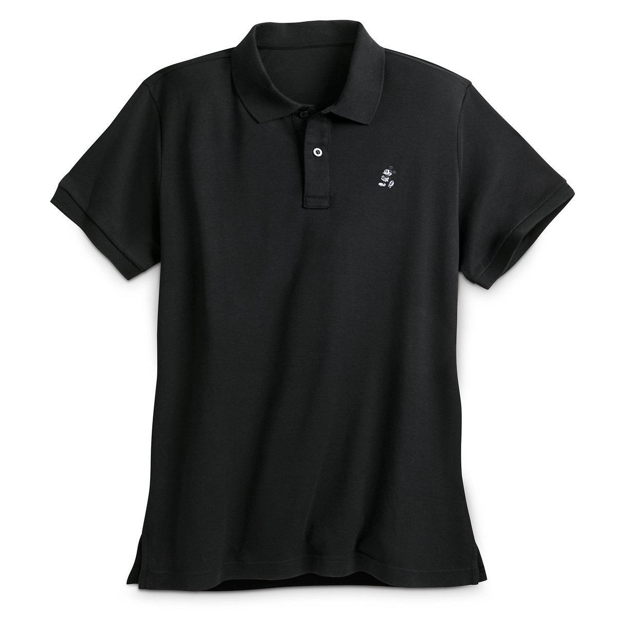 Your WDW Store - Disney Polo Shirt - Mickey Mouse Pima Cotton - Black 71386207048e